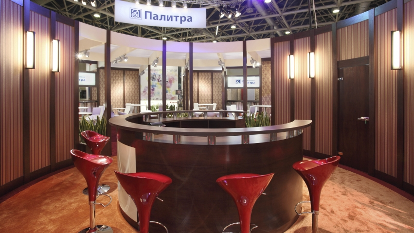 KOF Palitra/ MosBuild-2013/ 200 sq. m./ Moscow, Russia